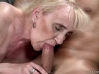 Old granny sex whit young dude