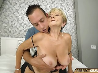 let the granny play with your cock
