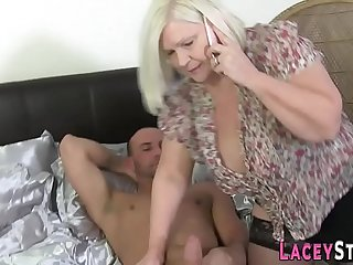 Cock sucking gilf slammed