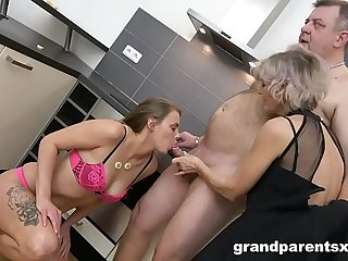 Teen Fucks Old Couple Like in the Good Ol'_ Days