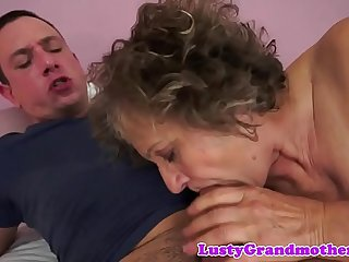 Busty european grandma gets pounded deeply