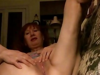 Mom Aunt Zina, married, got excited on me on Skype, her more,