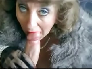 Classy Elegant MILF Sucking Dick and get Facial