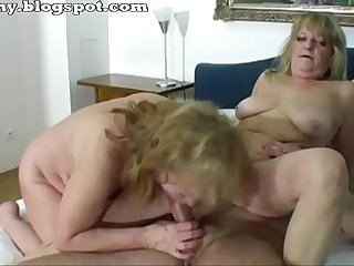 Two grandmothers enjoys sex
