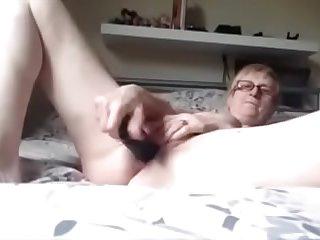 Granny Dildo Fun and Orgasm