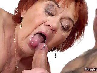 Cock loving granny enjoying hardcore sex