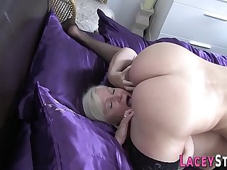 Busty granny loves to lick wet pussy