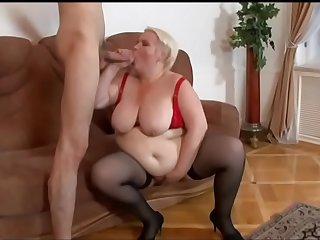 Stud bangs a hot blond mature hooker Marina and bust cum on her face after BJ
