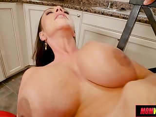 Huge Tit MILF lets schoolboy hit it