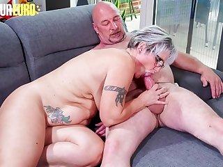 AMATEUR EURO  Horny German Granny Brigitte T. Fucks With Plumber