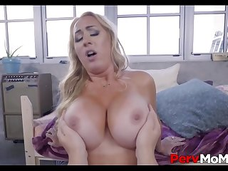 Blonde MILF Step Mom With A Big Ass &_ Tits Fucked By Step Son Before Leaving POV