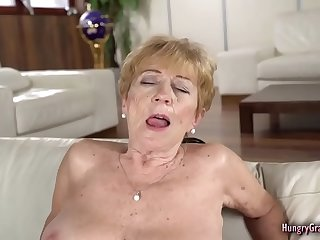 Crazy old Granny has a very good fuck with her toyboy