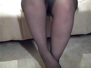 Sexy Lexi Little Feet in Black Pantyhose