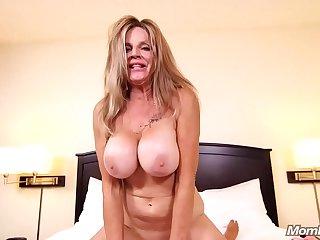 MomPov big tits slutty cougar grandma cumslut getting fucked POV