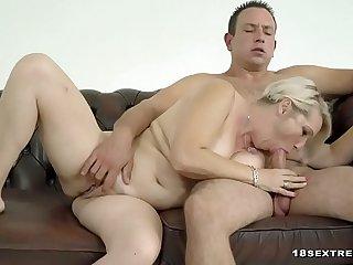 Sexy Blonde Granny Loves Fucking Hard