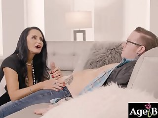 Johny passionately fucks Alison Rey and her horny grandma Rita Daniels