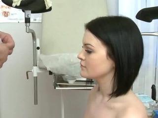 Brunette Sucks Her Doctors Cock For Test