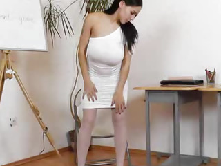 Eager housewife teacher exposed