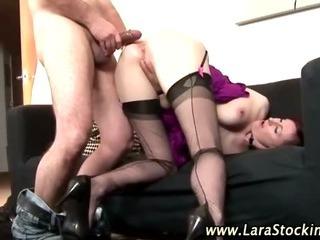 Slutty mature stockings amateur bitch