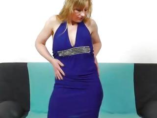 Susan Blond plays with dildo