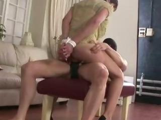 Mature stocking brit Sonia bondage fuck and cumshot