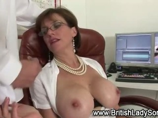 Horny british slut gets cumshot