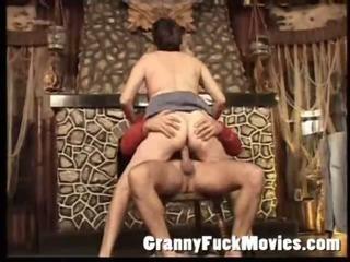 Granny Ann Dee banging stud