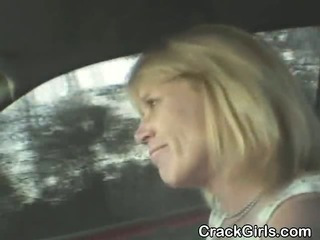 Blonde Crack Whore Sucking Dick And Fucked Point Of View