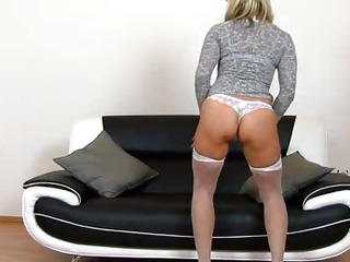 Elder lady Marketa pussy gaping zoomed in pov