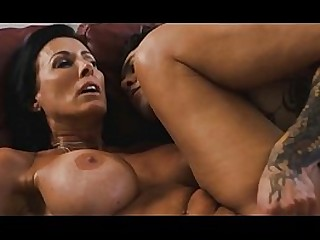 Mom kisses her shy step son and pulls out his cock