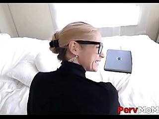Big Tits MILF Stepmom Orgasms On Loser Stepsons Big Dick And Leaves Him With Blue Balls POV