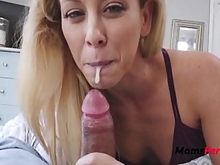 Mom steals son's cum WTF
