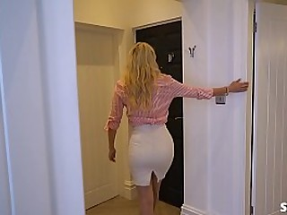 MILF Sucks & Makes Her Sons Friend Blow His Load