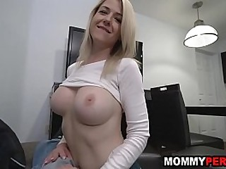 My hot mom blows me while im on the phone with my girlfriend