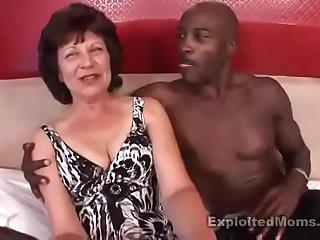 BBC fucking sexy big ass brunette granny