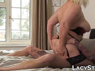 Nasty Lacey Starr slurps big cock before penetration
